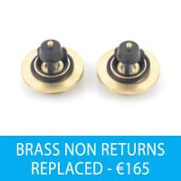 BRASS NON RETURNS REPLACED